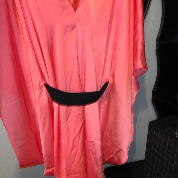 Pink silk Belted kaftan Bebe Kimono